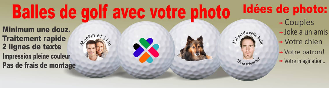 balles de golf avec photo