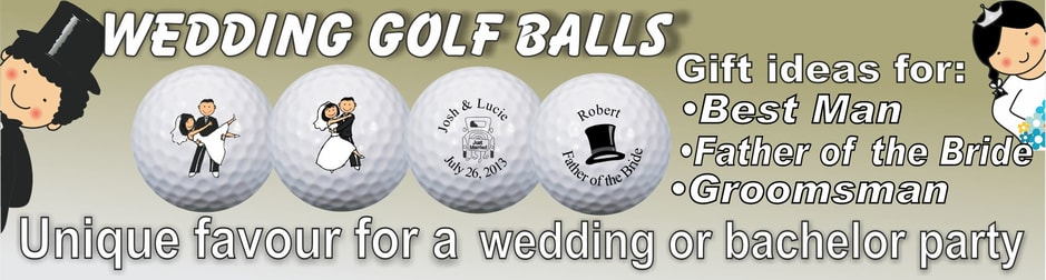 Personalized and logo golf balls printed on major brand golf balls